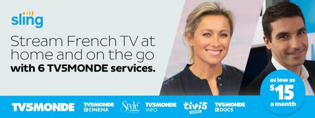 Sling French Bouquet 12-month Offer   TV5MONDE États-Unis